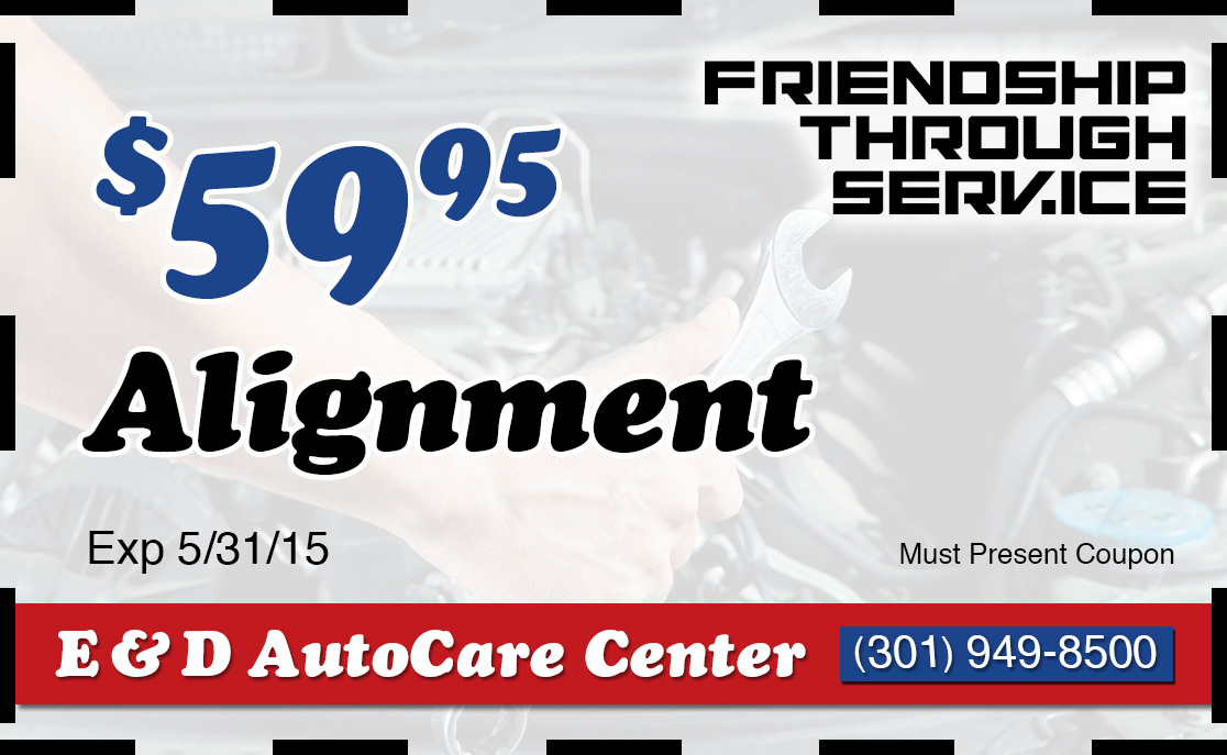 Coupon $59 95 Alignment